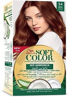 مجموعة تلوين الشعر سوفت هير بدون امونيا من ويلا، 54 بني أحمر، 125 مل