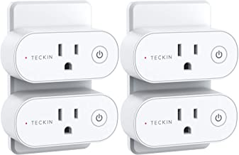 Smart Plug, TECKIN Mini WiFi Outlet 15A, Alexa Smart Plugs That Work with Alexa, Smart Home Devices with Remote Control, S...