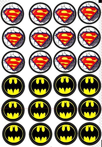 24 Muffin & Cupcake Aufleger Fondant Batman & Superman C1