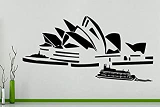 Vinyl Wall Decal Sydney Opera House Australia Harbour Skyline Buildings Landscape Opera House Vinyl Decor Sticker Mural Art Print TT7609