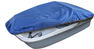 Explore Land Pedal Boat Cover - Waterproof Heavy Duty Outdoor 3 or 5 Person Paddle Boat Protector, Blue