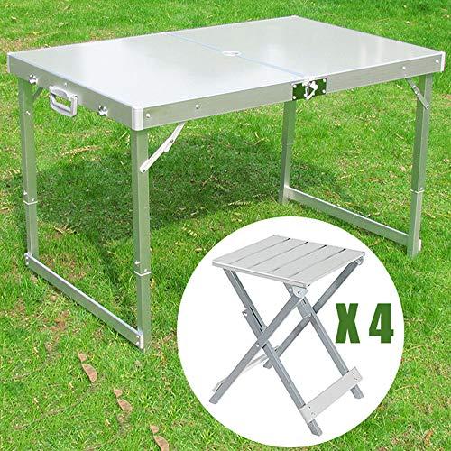 Gartentisch Klappbar Balkontisch Klapptisch Campingtisch,4 Stühle Mitbringen,inkl.tragegriff/Tragetasche