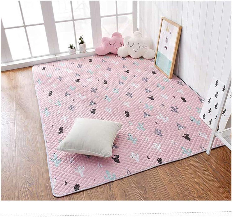 HLMIN Baby Krabbeln Gesteppte Matte Teppich Fodable Weich Glatt Hohe Standardqualitt Schützend Baumwolle (Farbe   A, Größe   120x190CM)
