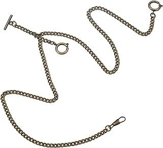 Decent Chrome-Plated Vest Waistcoat Pocket Watch Chain Tone Link Hook