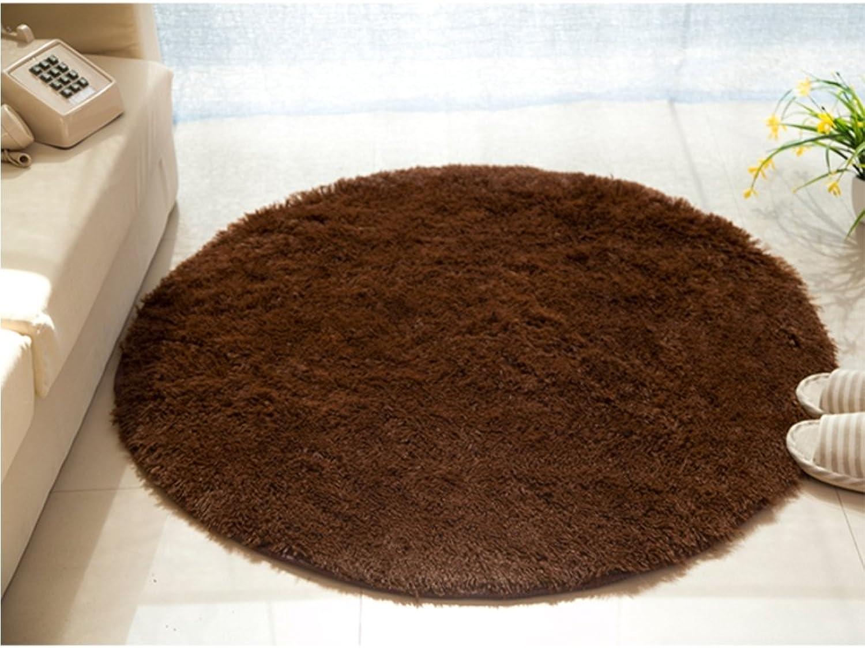 Round Doormat Non Slip mat Floor Door Ground Rug Computer Desk pad Little Carpet Bedroom Living Room Bed Footcloth-C Short Floss Diameter160cm