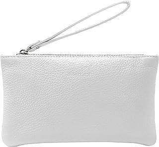 Parubi, Damen Clutch Tasche, aus echtem Leder Sauvage, Made in Italy, Modell Aura, Kleine Cluches mit Handschlaufe für Fra...