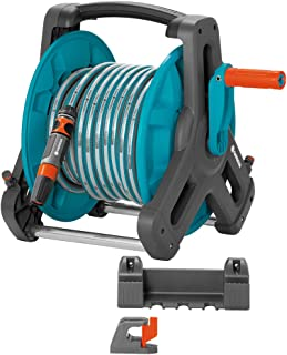Gardena Classic wall-fixed Hose Reel 50 Set: Mobile hose reel, wall-mountable to save space and can be removed at any tim...
