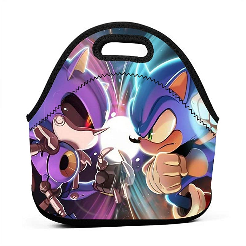 Neoprene Waterproof Portable Lunch Bag Reusable Picnic Box Soft Insulated Food Tote With Zipper Outdoor Travel Bento Bags Sonic Vs Metal Sonic