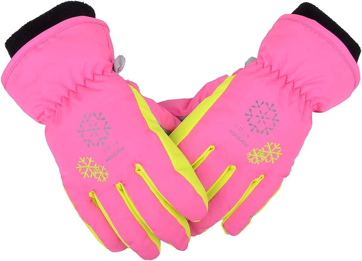 JEELAD Kids Snow Gloves Winter Ski Gloves Children Snowboard Gloves for Boys Girls Winter Snow Gloves