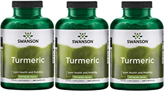 Swanson Turmeric Curcumin Antioxidant Joint Health Cardiovascular Liver Detox Mood Memory Support Supplement Curcuma Longa...