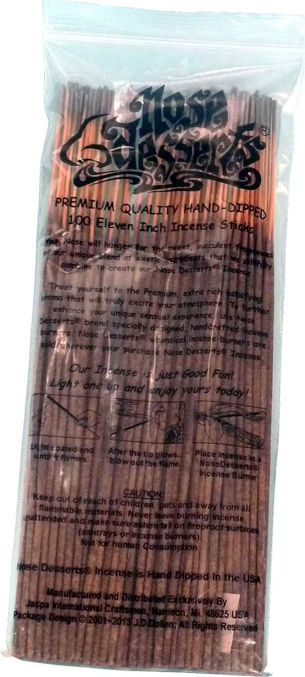 ランドマークパフクロニクルNose Desserts Brand プレミアム品質お香 Lick ME All Over Type Intense 香水フレグランスの香り バルクパック 1パック約90~100本 長さ11インチ 各パッケージ