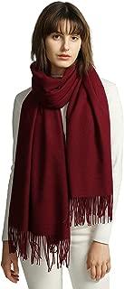 Schal Damen Warm Herbst unifarben Baumwolle mit quasten/fransen, 40+ Farben Einfarbig & Kariert Pashmina xl Schals Stola MEHRWEG