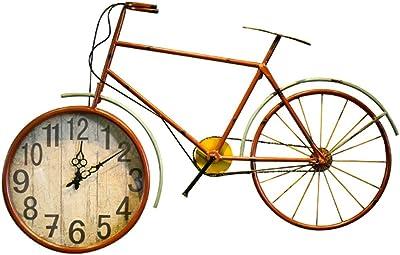 GWM Bicicleta de Pared Reloj de Pared Retro Industrial Wind Bar ...
