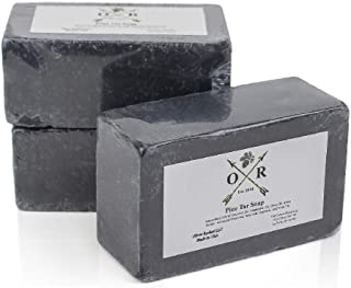 Oliver Rocket Pine Tar Soap - Men's Face and Body Soap with Pine Tar Extract and Charcoal - Homemade in USA with Coconut Oil and Olive Oil (3 Bar Set)