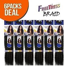 Freetress Synthetic Hair Crochet Braids Water Wave Bulk 12