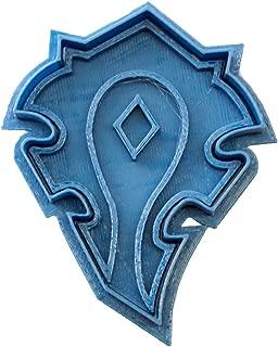 Cuticuter World of Warcraft Horde Shield Cookie Cutter, blue