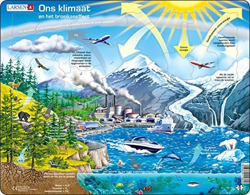Larsen NB1 Nuestro Clima y el Efecto Invernadero, edición en Holandés, Puzzle de Marco con 69 Piezas