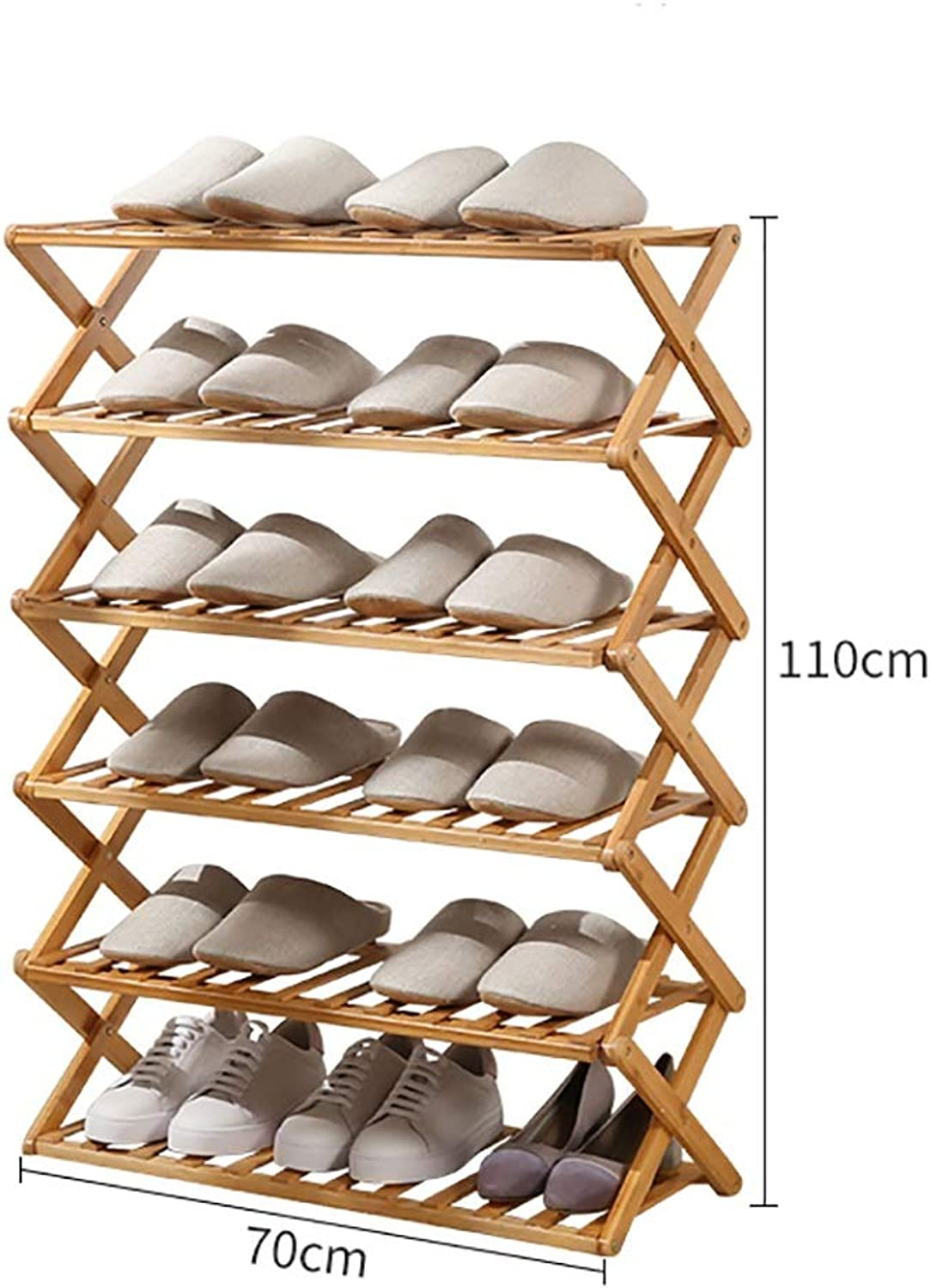 3,4,5,6-Layer shoes Rack Shelf Flower Stand Bookshelf Storage Shelf shoes Cabinet Multifunction Household Doorway Entrance Space Saving Foldable (Size   70  25  110cm)