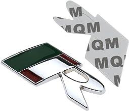Aluminio 3d R logo insignia latón metal cromado emblema pegatina para Jaguar