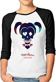 Suicide Squad Jersey Women Absorbent Teeshirts with Harley Quinn