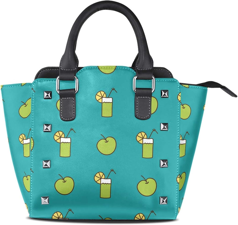Summer Icecream Women Leather Studded Bags Shoulder Bags Tote Bag Handbags