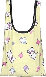 Pachako 【大容量Up&折叠&防水】环保袋 手提包 购物袋 轻量 可爱 时尚 女士 人气 卡通人物 购物40x65cm