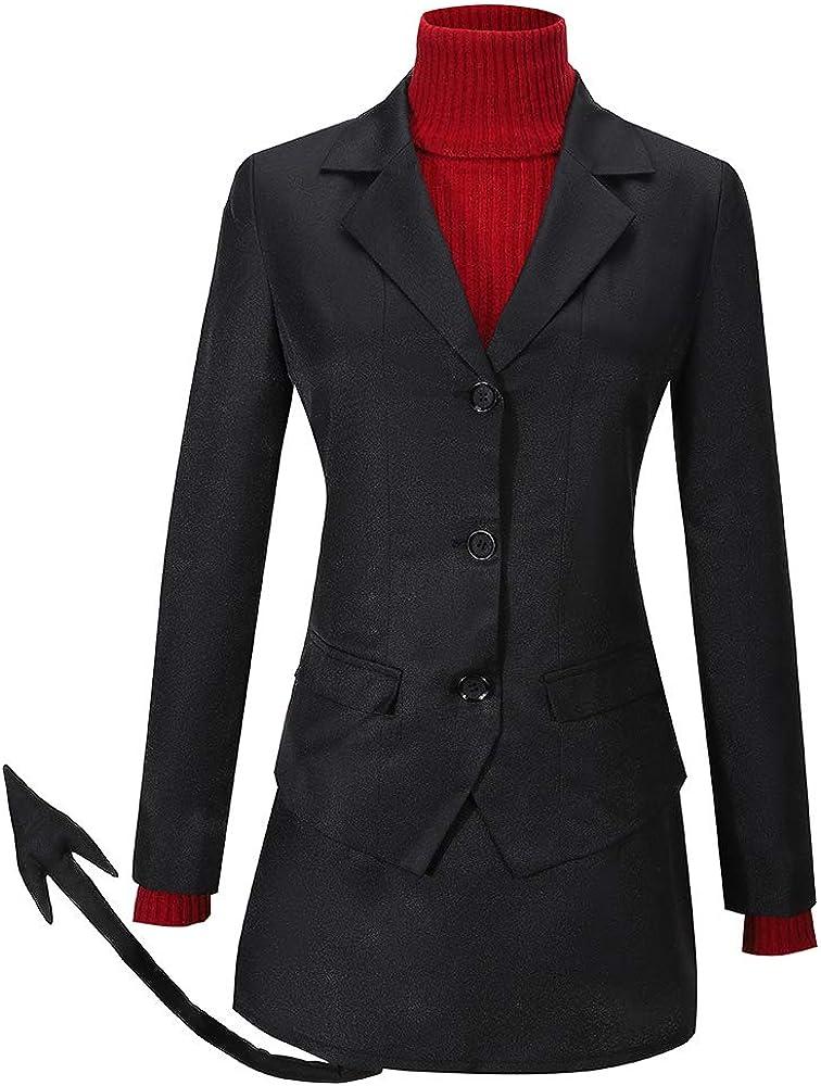 Cos-Love Helltaker Modeus Cosplay Costume Uniform Max 82% OFF Popular overseas Blazer Sweater