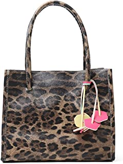 a1cf22ea61 Women Bag,Kycut Fashion Flower Decoration Zipper Leopard Pattern Shoulder  Bag HandBag Tote