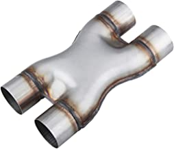 """LCGP Universal 2.5"""" In/Out Crossover X Pipe 12"""" Length Stainless Steel Exhaust Pipe…"""