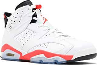 Jordan Air 6 Retro Men's Basketball Shoes White/Infrared-Black 384664-123 (13 D(M) US)