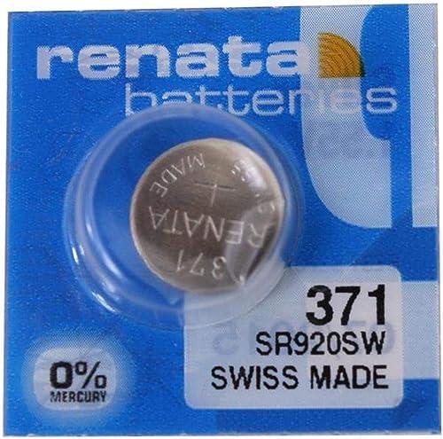 Pile de montre Renata SP 371 (370+) - SR920SW (SR69, AG6, LR921, LR69,171)