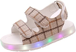 Sunbona (TM) Toddler Baby Boys Girls Led Luminous Beach Sandals Infant Kids Summer Open Toe Ankle Strap Casual Shoes Sneakers