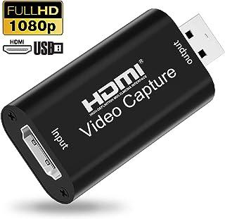 XTYM HDMI キャプチャーボード USB2.0 1080P30Hz HDMI ゲームキャプチャー・ ビデオキャプチャカード ゲーム実況生配信・画面共有・録画・医用撮像・ライブ会議に適用 UVC(USB Video Class)規格準拠 Nintendo Switch・Xbox One・OBS Studio 対応 電源不要 持ち運びに便利