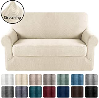 H.VERSAILTEX Loveseat Slipcover 2 Piece Stretch Loveseat Cover Couch Cover