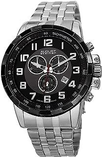 August Steiner Men's Swiss Quartz Stainless Steel Band Chronograph Watch