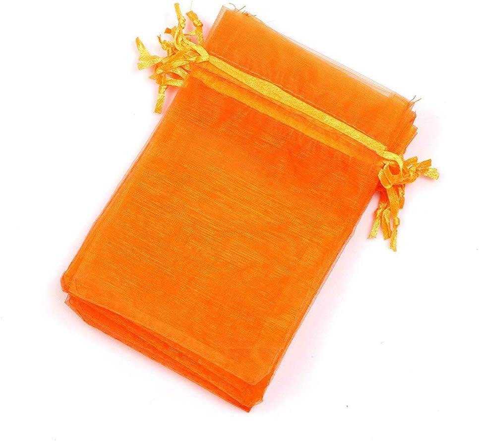 100 bolsas de organza multicolor SUVIA para boda o regalo