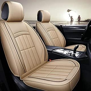 H.aetn Funda de Asiento de automóvil, Delantera y Trasera 5 Asientos de Cuero Universal Impermeable Four Seasons Pad Compatible Airbag (Color: Rojo)
