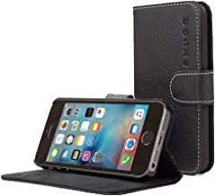 iPhone 5 / 5s Case, Snugg - Leather Wallet Cover Case with (Black) for Apple iPhone 5 / 5s