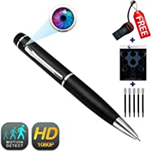 Pen Camera GEAGLE 1080p HD Hidden Spy Camera Pen   External Memory   Motion Detection   Night Vision   + USB Card Reader + 5 Ink Refills