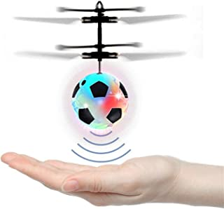 PTHTECHUS RC Flying Ball Kids Toys - Mini Infrared Induction Flying Helicopter Drone with Flashing LED Lights Rechargeable Games Toys Balls for Indoor / Outdoor Birthday Favor Boys Girls Adults