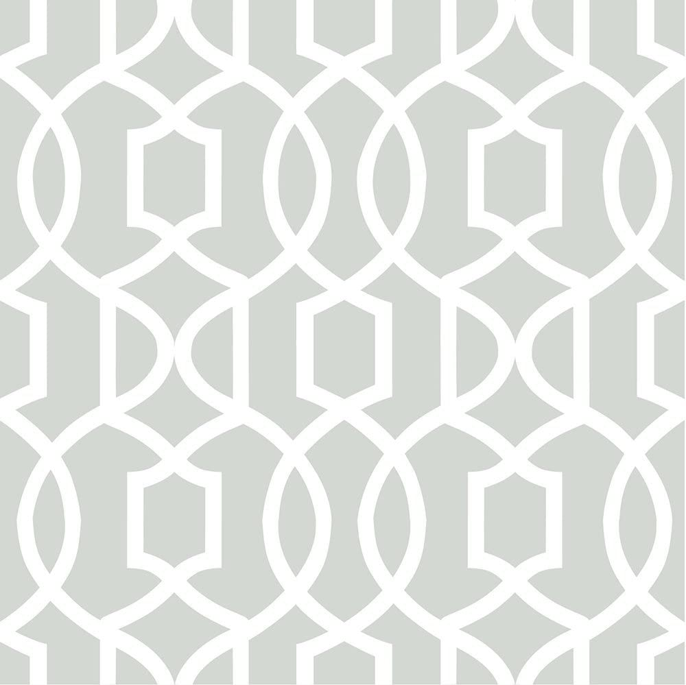 Wall Pops Special price for a limited time NU1421 Gray Ranking TOP18 Grand Peel Stick Trellis Wallpaper and