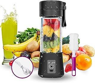 Bizcasa Mélangeur Portable, Mini Blender, Portable Mixeur des Fruits Rechargeable USB, Coupe-presse-agrumes USB rechargeab...