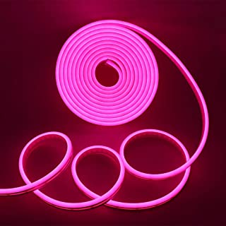 XUNATA LED Strip Lights, LED Neon Light Rope, Outdoor Flexible Light, DC 12V 16.4 Ft/5m 2835 600 LEDs Silicone Tape Light ...