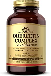 Solgar Quercetin Complex with Ester-C Plus, 100 Vegetable Capsules - Supports Immune Health, Antioxidant - Gentle on the S...