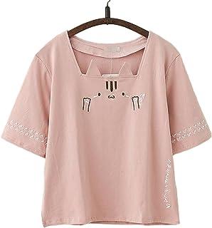 TAOHUA tシャツ レディース 猫柄 プリント 夏 かわいい