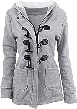YMING Women's Pea Coat Winter Outwear Warm Wool Classic Hoodies Jacket