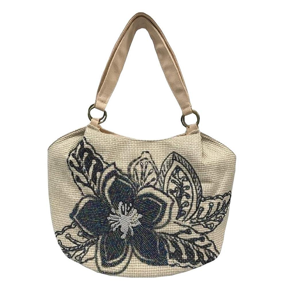 スプリットブレイズツールベトナムバッグ ビーズ トートバッグ 肩掛け 鞄 ベトナム雑貨