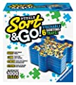 Ravensburger Sort and Go Jigsaw Puzzle Accessory - Sturdy and Easy to Use Plastic Puzzle Shaped Sorting Trays for Puzzles Up to 1000 Pieces by Ravensburger