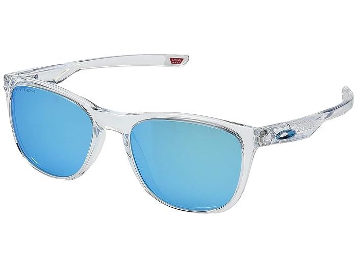 Oakley Trillbe X (Polished Clear/Prizm Sapphire) Sport Sunglasses