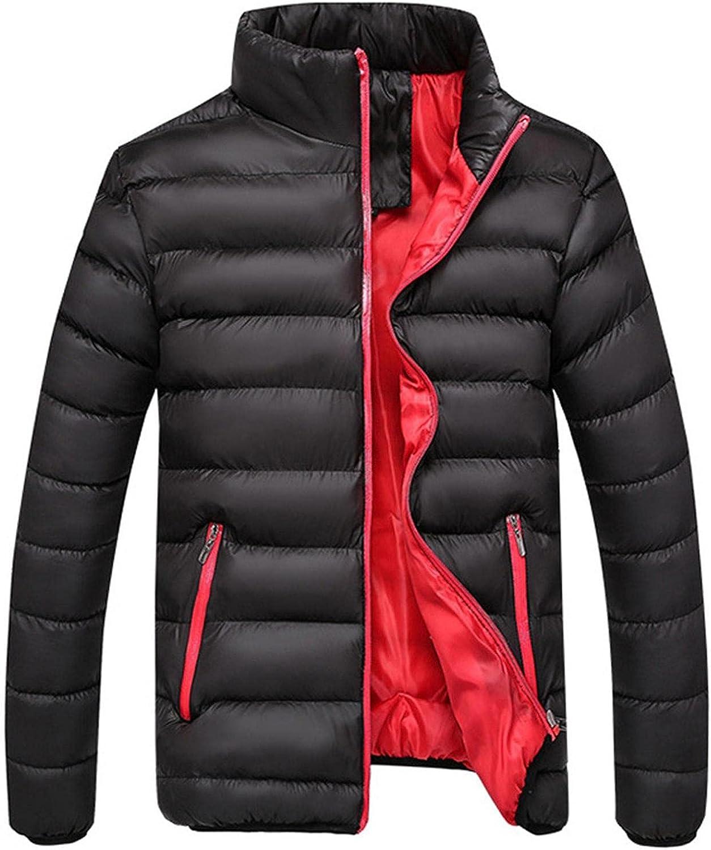 PHSHY Mens Lightweight Puffer Jacket Winter Warm Thicken Parka Bubble Coats Full Zip Up Waterproof Packable Overcoat